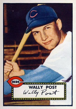 1952 Topps      151     Wally Post RC