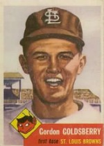 1953 Topps      200     Gordon Goldsberry