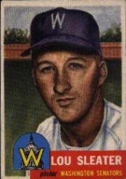 1953 Topps      224     Lou Sleater