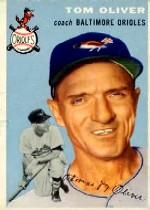 1954 Topps      207     Tom Oliver CO RC