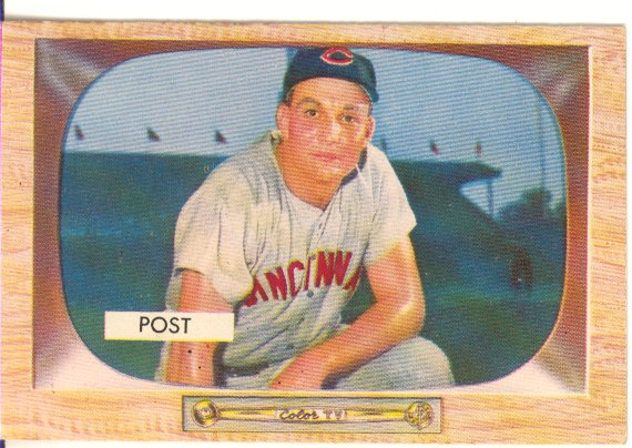 1955 Bowman     032      Wally Post