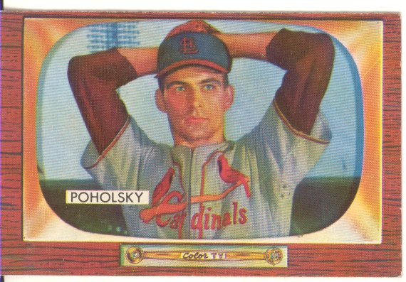 1955 Bowman     076      Tom Poholsky