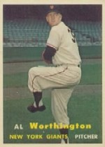 1957 Topps      039      Al Worthington RC