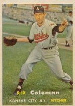 1957 Topps      354     Rip Coleman RC
