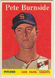 1958 Topps      211     Pete Burnside RC