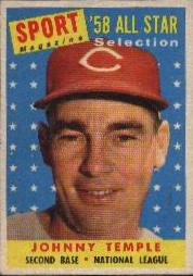 1958 Topps      478     Johnny Temple AS UER