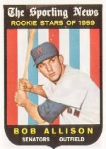 1959 Topps Baseball Cards      116     Bob Allison RS RC