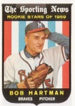 1959 Topps Baseball Cards      128     Bob Hartman RS RC