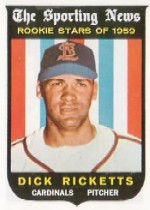 1959 Topps Baseball Cards      137     Dick Ricketts RS RC