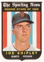 1959 Topps Baseball Cards      141     Joe Shipley RS RC