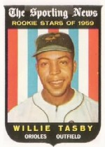 1959 Topps Baseball Cards      143     Willie Tasby RS RC