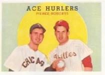 1959 Topps Baseball Cards      156     Ace Hurlers-Billy Pierce-Robin Roberts