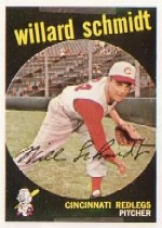 1959 Topps Baseball Cards      171     Willard Schmidt