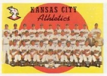 1959 Topps Baseball Cards      172     Kansas City Athletics CL