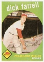 1959 Topps Baseball Cards      175     Dick Farrell