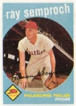1959 Topps Baseball Cards      197     Ray Semproch