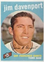 1959 Topps Baseball Cards      198     Jim Davenport