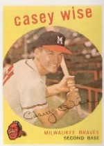 1959 Topps Baseball Cards      204     Casey Wise WB