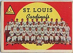 1959 Topps Baseball Cards      223     St. Louis Cardinals CL WB