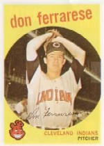 1959 Topps Baseball Cards      247     Don Ferrarese WB