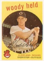 1959 Topps Baseball Cards      266     Woody Held WB