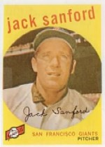1959 Topps Baseball Cards      275A    Jack Sanford GB