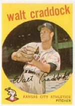 1959 Topps Baseball Cards      281A    Walt Craddock GB