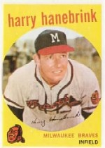 1959 Topps Baseball Cards      322A    Harry Hanebrink TR (with Traded Line)