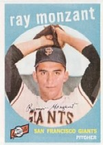 1959 Topps Baseball Cards      332     Ray Monzant