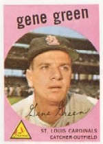 1959 Topps Baseball Cards      037      Gene Green