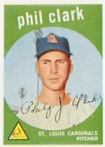 1959 Topps Baseball Cards      454     Phil Clark