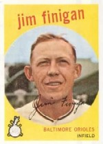 1959 Topps Baseball Cards      047      Jim Finigan