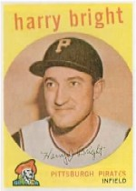 1959 Topps Baseball Cards      523     Harry Bright RC