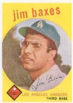 1959 Topps Baseball Cards      547     Jim Baxes RC