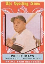 1959 Topps Baseball Cards      563     Willie Mays AS