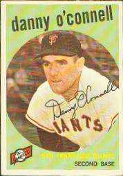 1959 Topps Baseball Cards      087      Danny O Connell