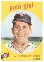 1959 Topps Baseball Cards      009       Paul Giel