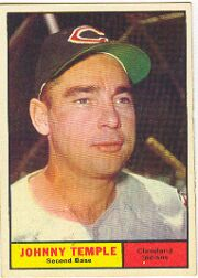1961 Topps Baseball Cards      155     Johnny Temple