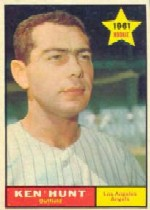 1961 Topps Baseball Cards      156     Ken Hunt