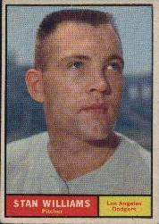 1961 Topps Baseball Cards      190     Stan Williams