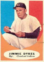 1961 Topps Baseball Cards      222     Jimmy Dykes MG