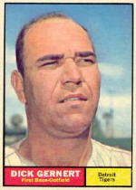 1961 Topps Baseball Cards      284     Dick Gernert