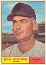 1961 Topps Baseball Cards      289     Ray Moore