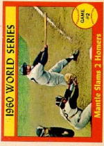 1961 Topps Baseball Cards      307     World Series Game 2-Mickey Mantle