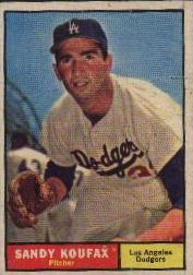 1961 Topps Baseball Cards      344     Sandy Koufax