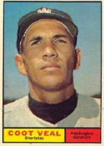1961 Topps Baseball Cards      432     Coot Veal