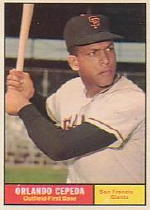 1961 Topps Baseball Cards      435     Orlando Cepeda UER-(San Francis on-card front)