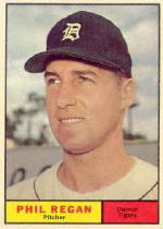 1961 Topps Baseball Cards      439     Phil Regan RC