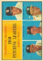 1961 Topps Baseball Cards      047      NL Pitching Leaders-Ernie Broglio-Warren Spahn-Vern Law-Lou Burdette