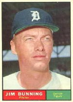 1961 Topps Baseball Cards      490     Jim Bunning